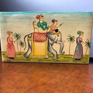 Vintage Maharajah Indian Elephant Box
